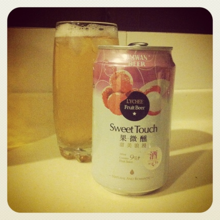 sweet touch lychee beer from taiwan