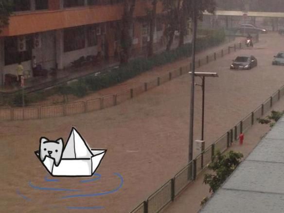 So, it flooded again in Singapore